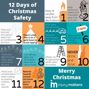 Injury Matters 12 Days of Christmas Safety